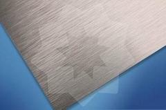 Brushed aluminum sheet