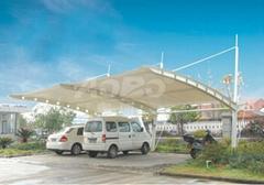 供應膜結構遮陽棚、防雨棚