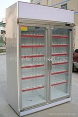 东莞清溪凤岗两门双门立式饮料展示柜