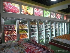 深圳玻璃門水果冷藏展示櫃