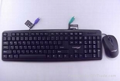 Waterproof keyboard mouse