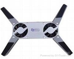 The propeller radiator folding portable laptop cooling base