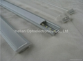 Super slim 7mm recessed Aluminum LED profile with flange