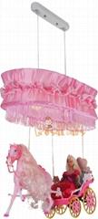 princess carriage baby lamp