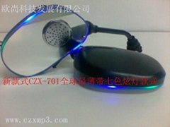 Quality goods with electric lamp rearview mirror MP3 audio dazzle wholesale