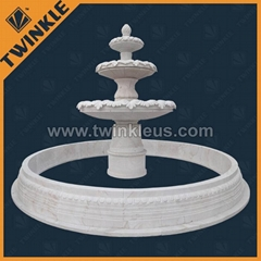 Natural white marble garden water fountain