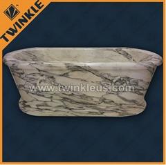 carved marble stone bathtub