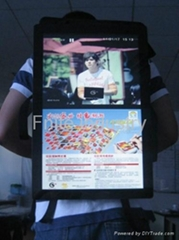 Fnite 22 inch backpack lcd advertising player