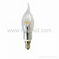 3w Flame LG LED candle Light for crystal light fixture with CE,EMC, LVD, ROHS