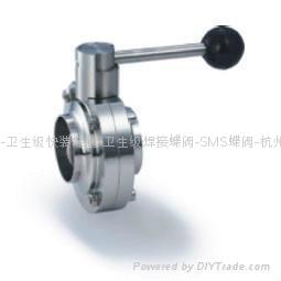卫生级焊接蝶阀 1