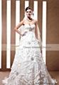 sweetheart neck crystal luxury wedding