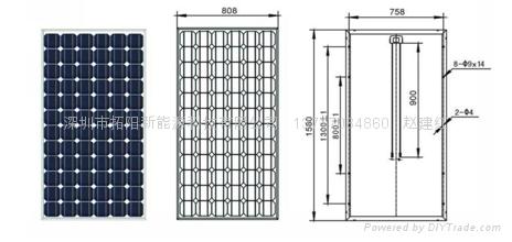 单晶硅175W太阳能电池组件 2