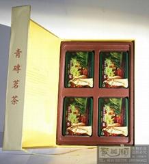 800克巧克力式青砖茶铁盒套装