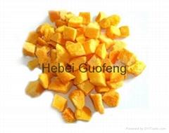 Freeze dried apricot dice