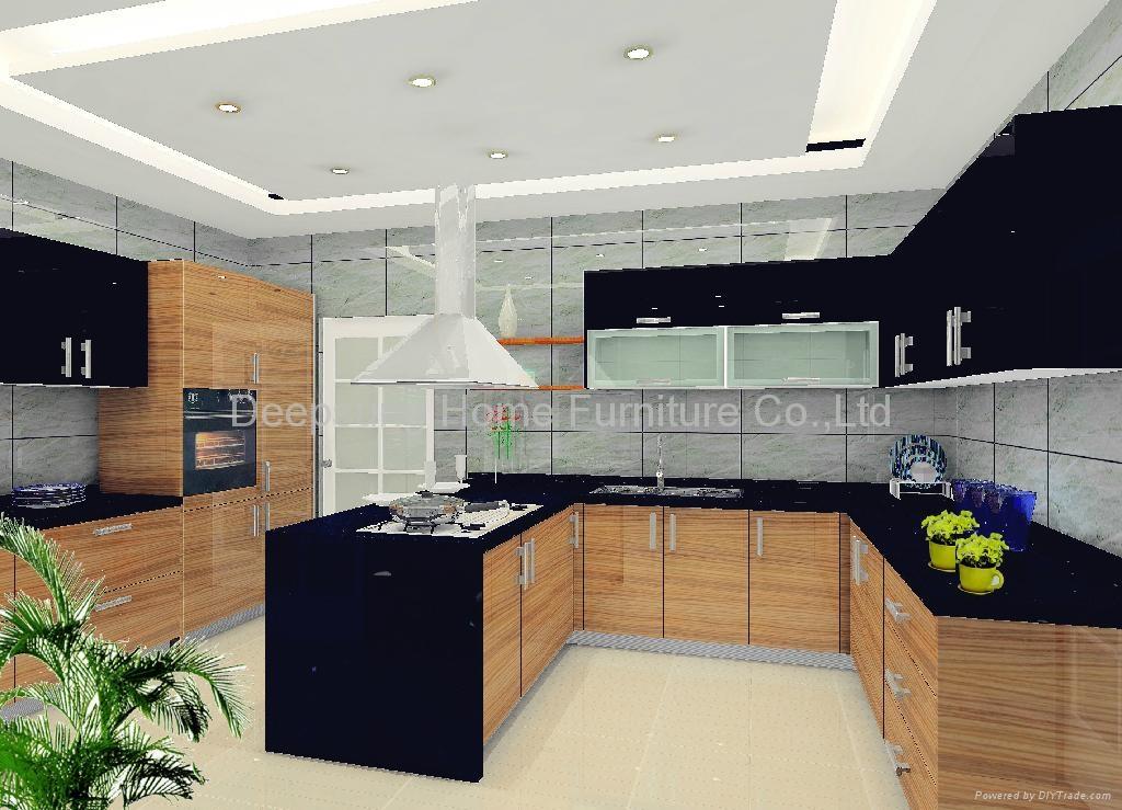 Wood Grain Kitchen Cabinet Sl 03 Deepsung Home