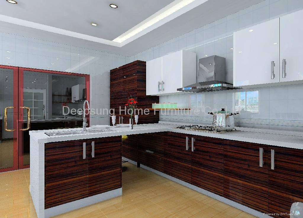 Wood Kitchen Equipment : Wood grain kitchen cabinet sl deepsung home