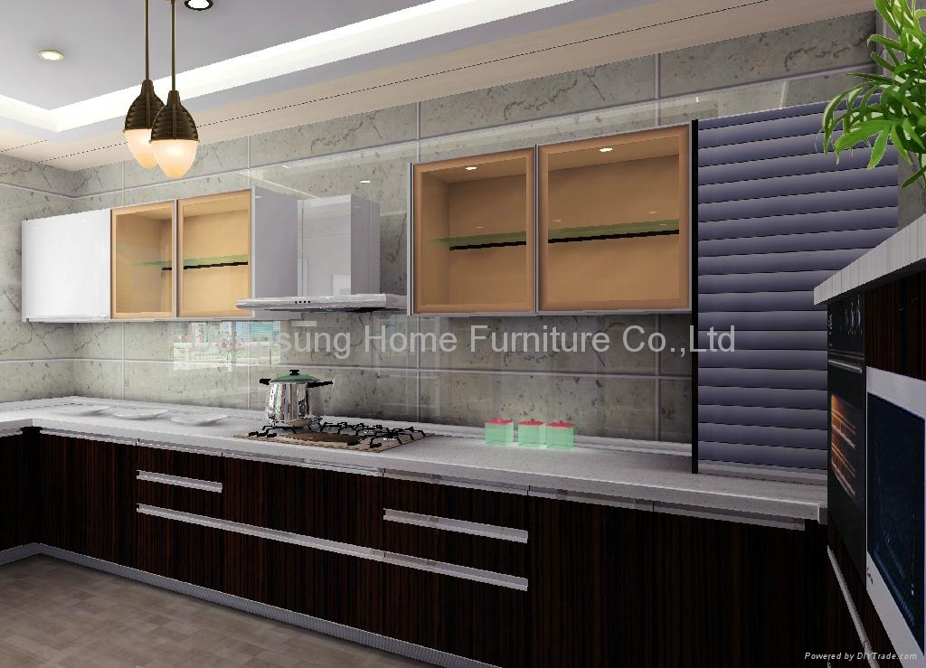 Lacquer kitchen cabinet deepsung home furniture co ltd for Kitchen cabinet brand names