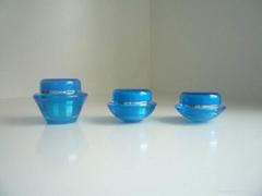 Slanted Shaped Acrylic Cream Jar