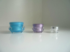 Diamond Shaped Acrylic Cream Jar