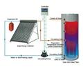 Split Pressurized  Heat Pipe solar water heater system