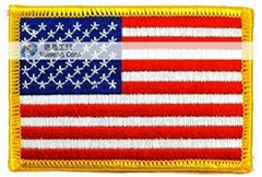 embroidered patch usa flag