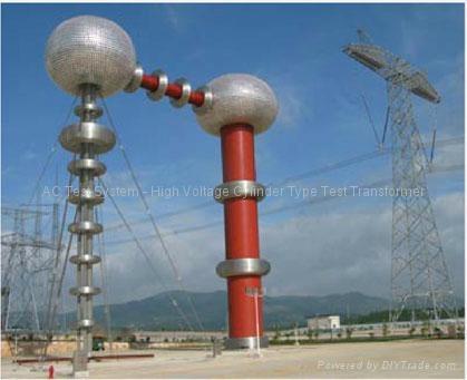 High voltage ac test transformer