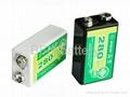 NiMH 9V280mAh rechargeable batteries