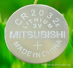 MITSUBISHI LiMn02 CR2032 3V Button Cell Battery