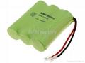 Ni-MH AA600mAh 3.6V cordless phone