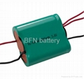 NiMH AA rechargeable battery pack for