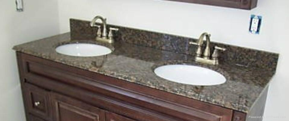 Engineered quartz vanity top dark color uviistone for Engineered quartz countertops