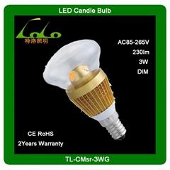 3w led mushroom clear bulb ce&rohs