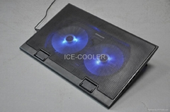 Notebook cooler fan adjustable angles for different customers
