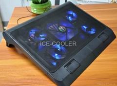 五风扇ICE-COOLER可调高度笔记本散热器