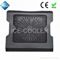 Adjustable notebook cooler radiator with
