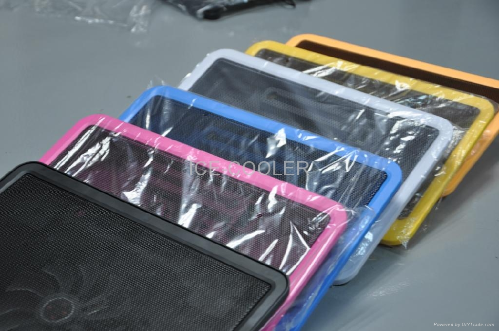 Colorful Notebook cooler fan adjustable angles for different customers 4