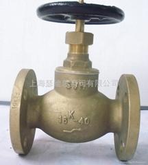 Marine bronze at globe valves