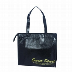 Zipper gift bag with single handle