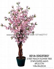 artificial peach flower tree