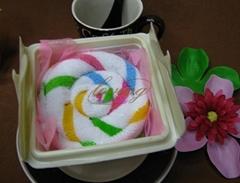 楚悦蛋糕毛巾彩条天使