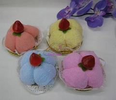 楚悦蛋糕毛巾草莓布丁