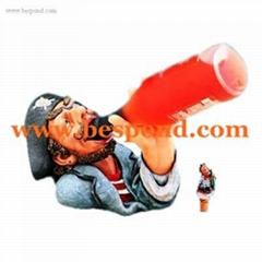 Drinking Soldier Polyresin Bottle Holder