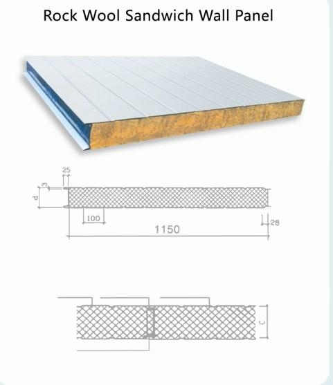 Rock Wool Wall Sandwich Panel Wall Panel Wzh China