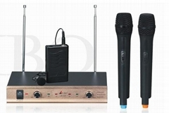 Two Handheld (or Lapel) Wireless Microphone (LB-12V)