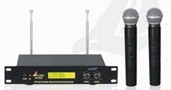 UHF Dual-channel wireless microphone