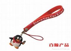 卡通QQ硅膠手機吊飾
