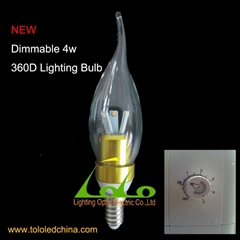 4w led candle bulb dimmable 360D Lighting