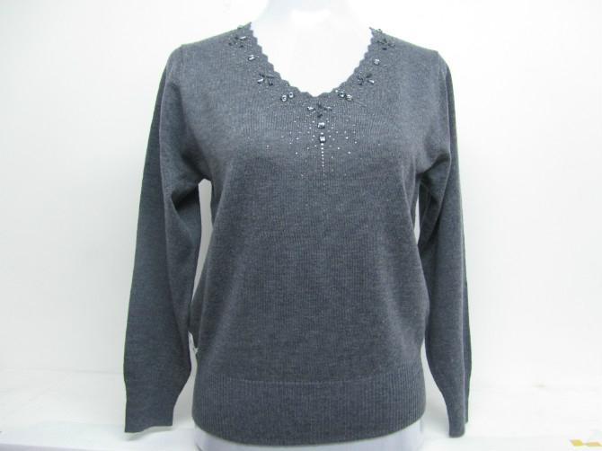 女式休閑羊毛衫 2