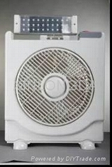 RECHARGEBLE FAN WITH LED LIGHT