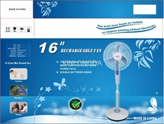 supplier emergency DC/AC fan with battery and solar panels